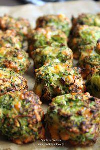 Pieczone kotlety z brokułów.