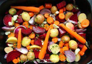 Pieczone warzywa.