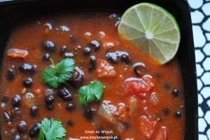 Pogromca kaca (zupa z czarnej fasoli).
