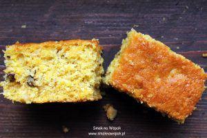 Ciasto dyniowe z orzechami.